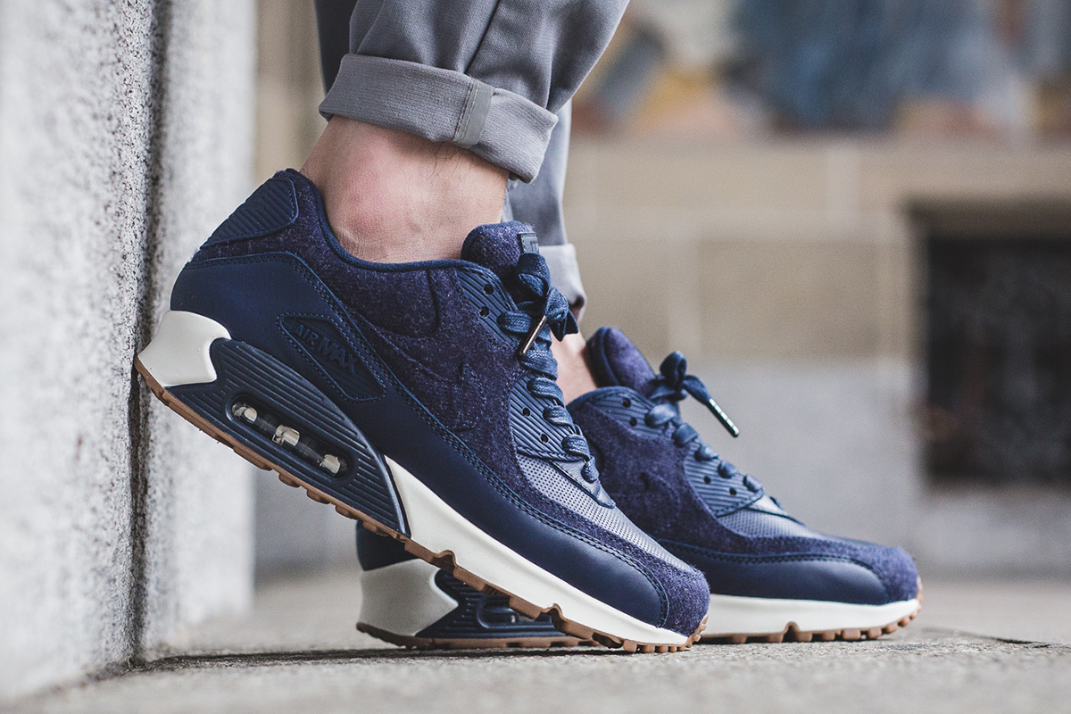 """61e06dcb84 ... Premium """"Wolf Grey"""" · Nike Air Max 90 Drops in Leather & Tweed"""