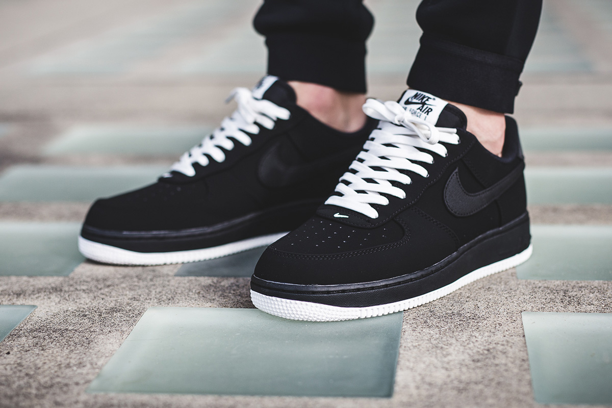 nike air force 1 low black and white suede reebok