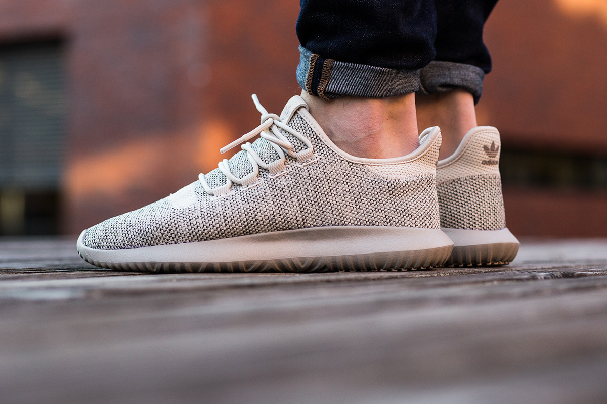 tubular shadow shoes on feet