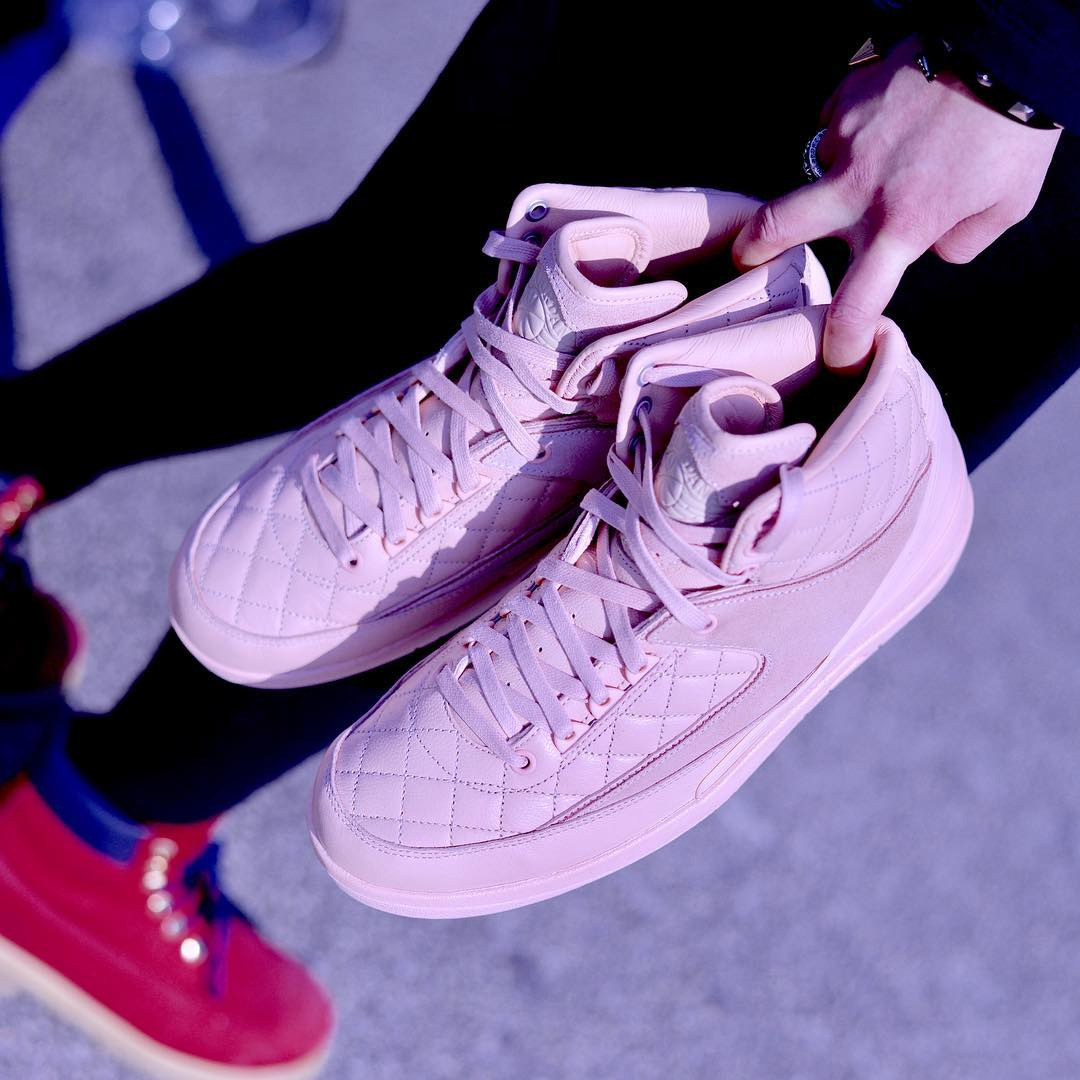 detailed look eebd6 67a5c ... new arrivals jordan 2 retro. preview just dons pink air e05e9 ab7df