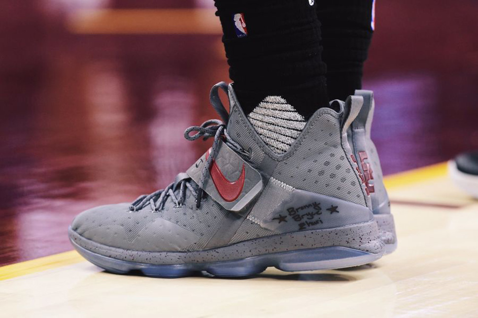 c69939331f9 ... coupon for lebron james debuts grey burgundy nike lebron 14 on court  d5130 08a4a ...