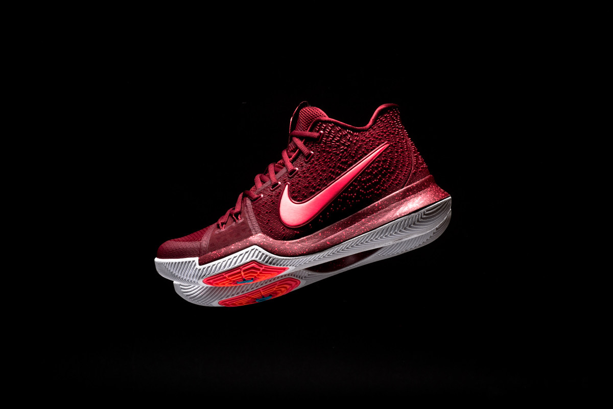 """pretty nice b3f31 800aa Nike Basaketball Gives the KYRIE 3 a """"Hot Punch"""" colorway · «"""