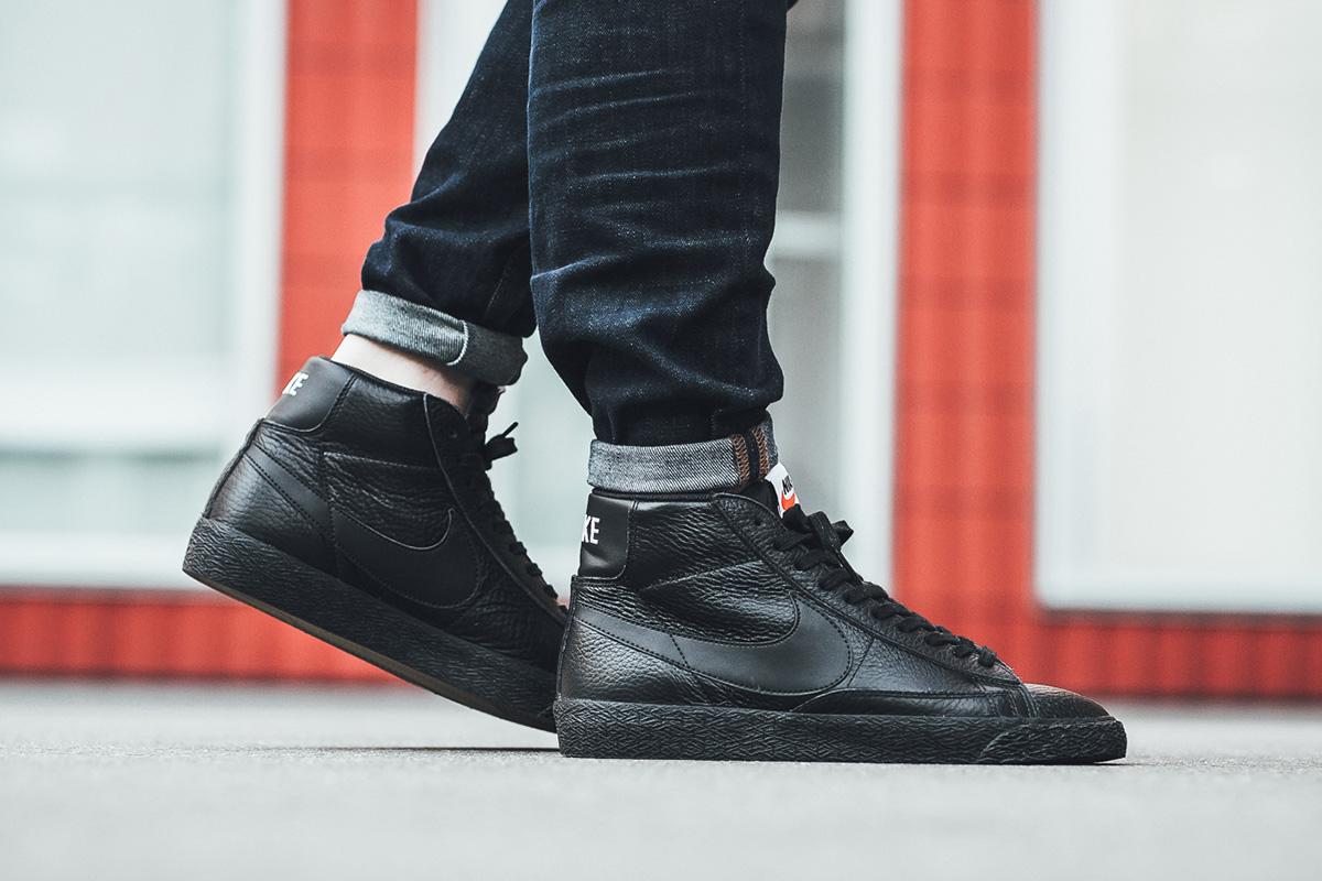 100% authentic 37962 762f4 Nike Blazer Mid Premium 09 Home Nike Blazer Mid Premium Leather Black .