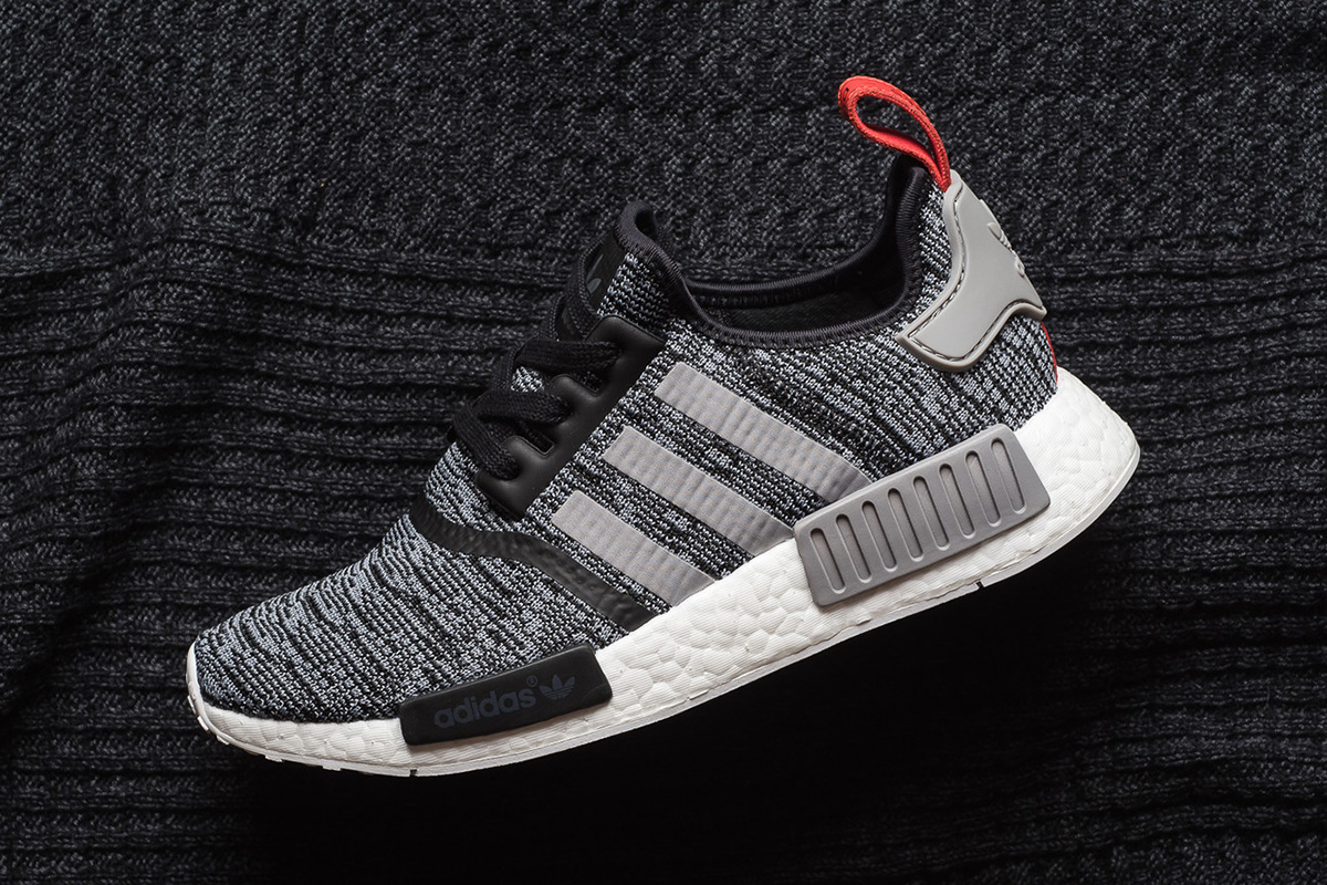 d2a4ab6b929 ... italy adidas nmd r1 primeknit in core black solid grey f15d8 b1359
