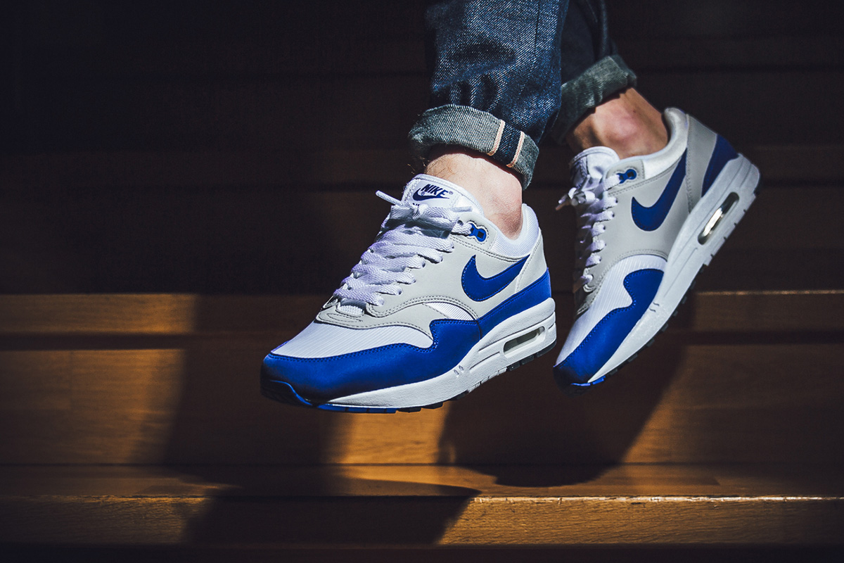 finest selection 6bb2a 21438 ... promo code for on foot nike air max 1 og blue bddb0 ebc97