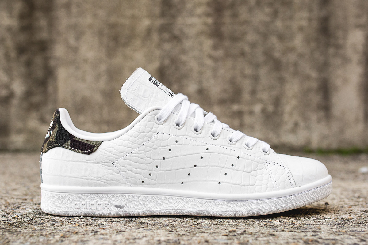 new product 4fcb6 2c57c stan smith white croc