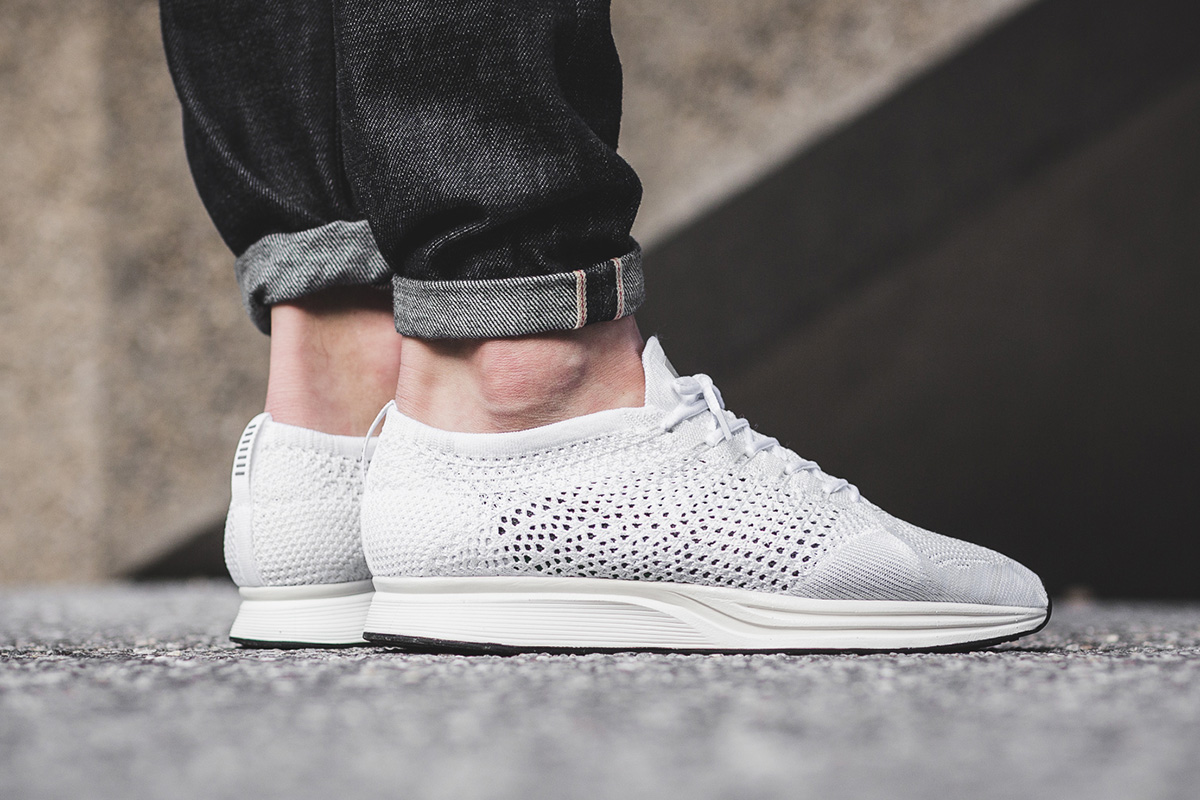 77218987af53 ... spain on foot nike flyknit racer white sail pure platinum 51301 b4ddb