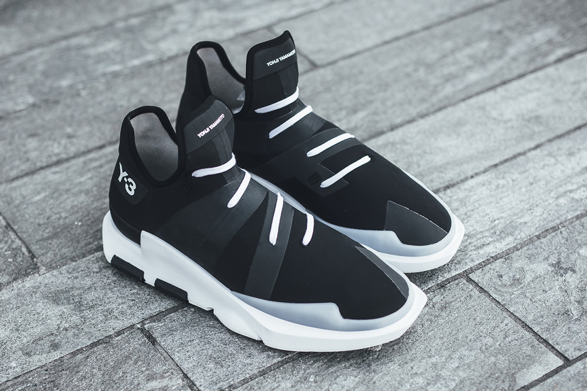 19701a6feaa83 ... Low Top Futurism adidas Y-3 Noci Low in Core Black Crystal White ...