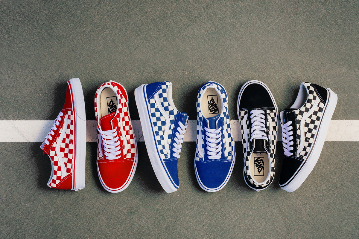 vans blue checkerboard old skool