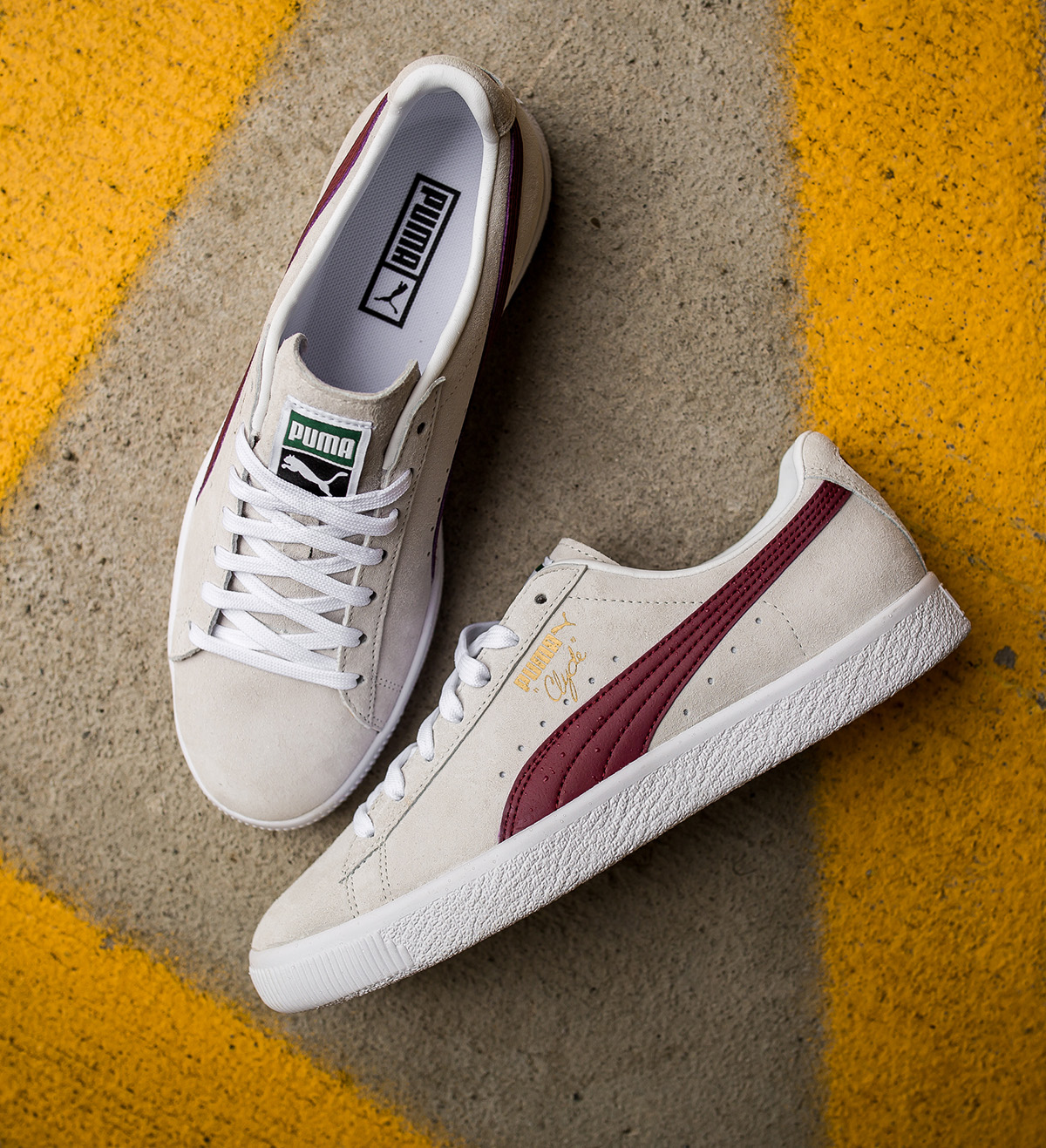puma clyde bordeaux