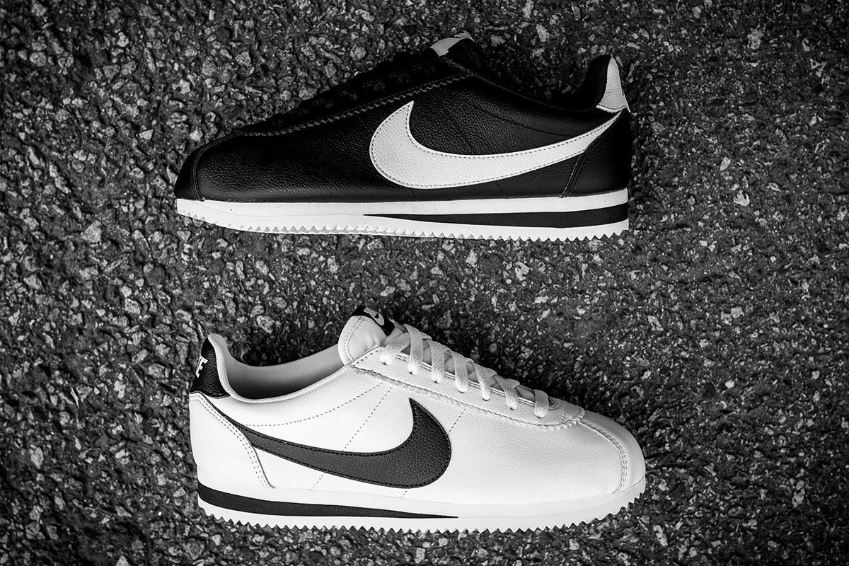 """buy online f86c0 f9be7 Nike Classic Cortez Leather SE """"Black White"""" Pack"""