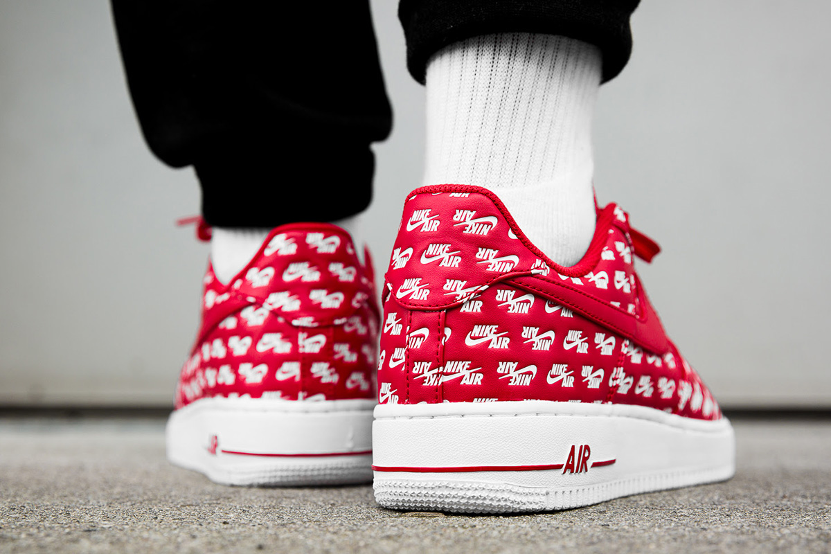new arrival ed585 41992 ... get on foot nike air force 1 low logo university red f217b 9992f