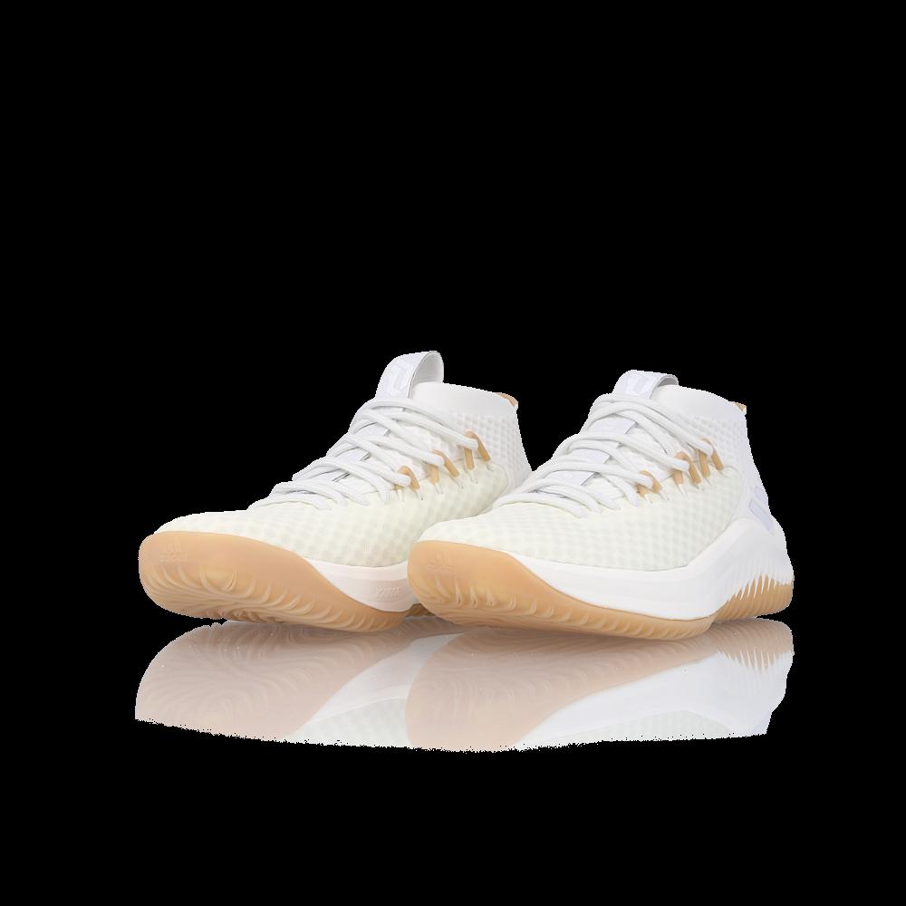 separation shoes a3e22 8bfe4 ... White Gum adidas Dame 4 Un-Dyed - EU Kicks Sneaker Magazine ...