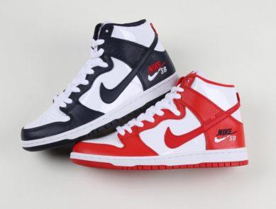 "f5eaab540cb3d7 Nike SB Dunk High Pro ""Dream Team"" Pack. Patent   Tumbled Leather. Air  Jordan 7 Retro"