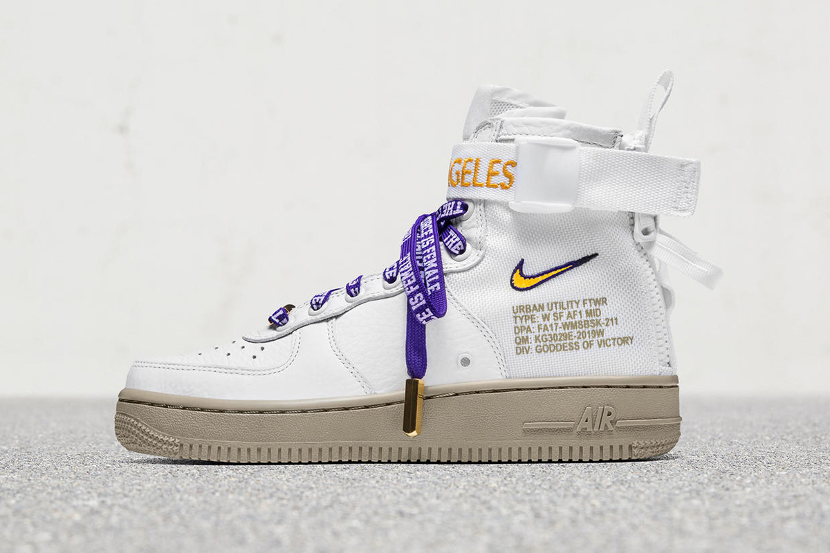 "detailed look 33982 d6d5f Nike Special Field Air Force 1 Mid ""LA"". Los Angeles Exclusive. Kobe  Bryant s Air Jordan 9 Retro Lakers PE (Detailed Preview ..."