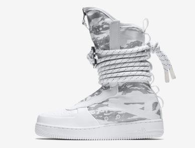 "Nike SF Air Force 1 High IBEX ""Triple White Camo"""