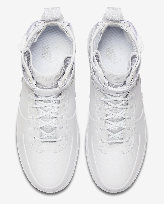 """Nike SF Air Force 1 Mid """"Triple White Camo"""""""