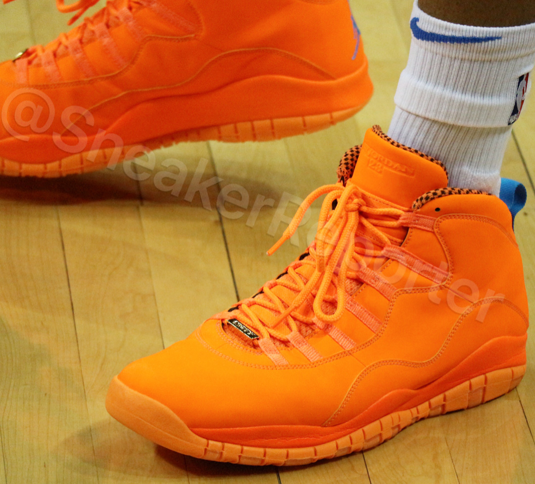 Russell Westbrook PE Air Jordan 10 Retro in Orange