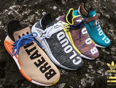 adidas Originals = PHARRELL WILLIAMS Hu Hiking Collection HU NMD TR & Apparel