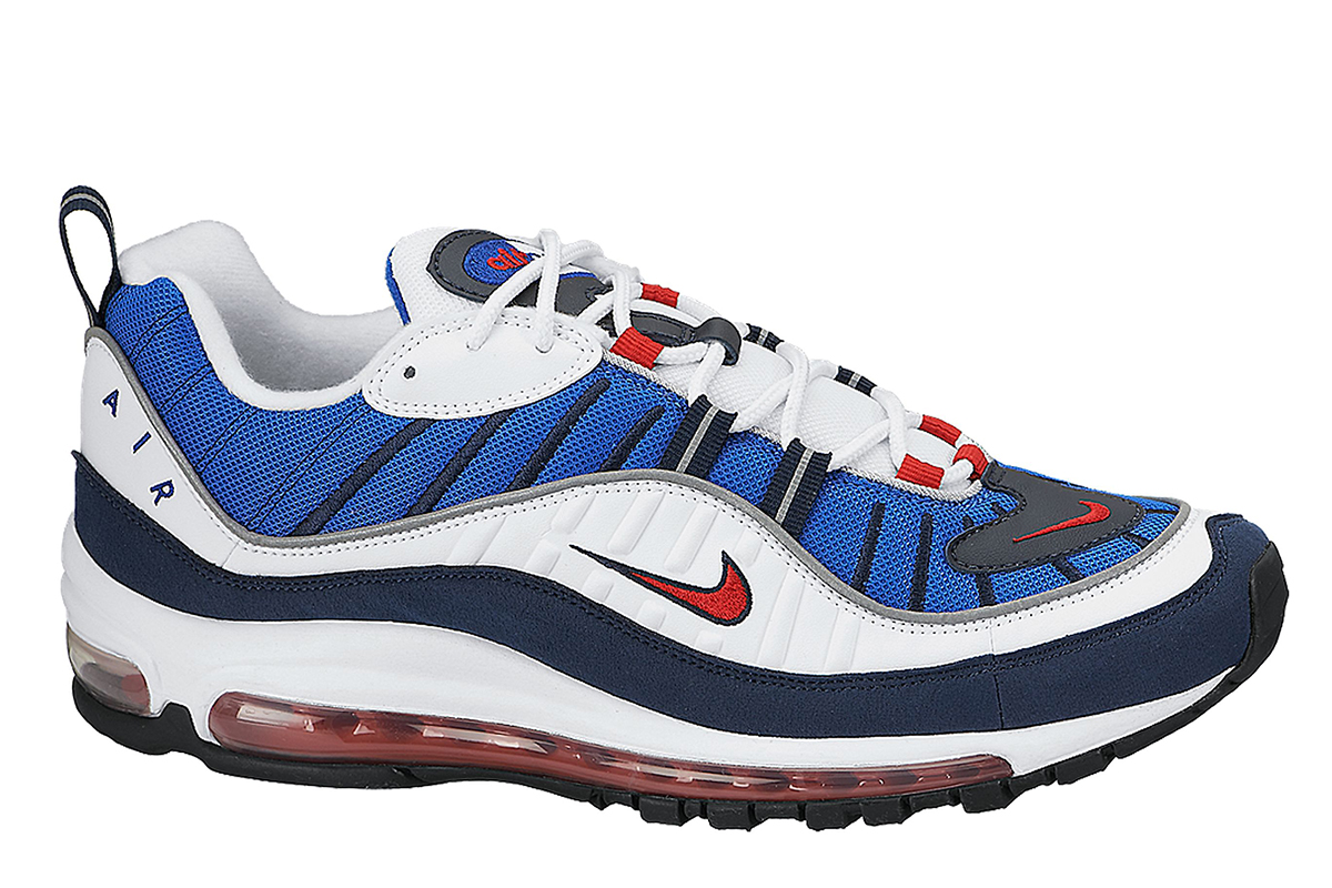 nike air max 98 blue white red