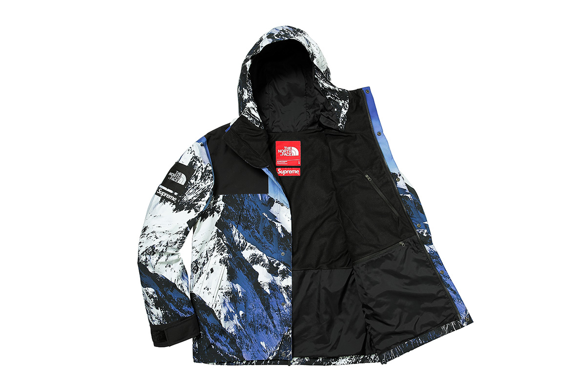 North face x supreme winterjacke
