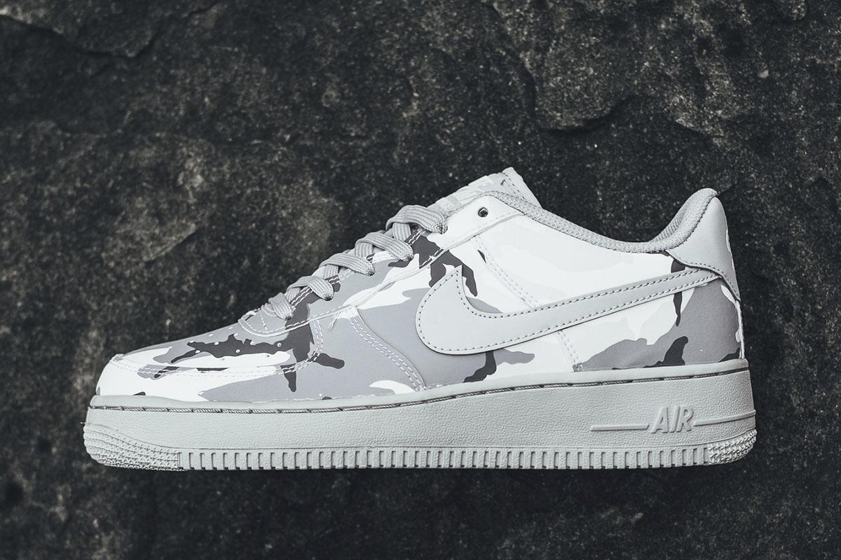 "Nike Air Force 1 LV8 GS ""White/Grey Camo"""