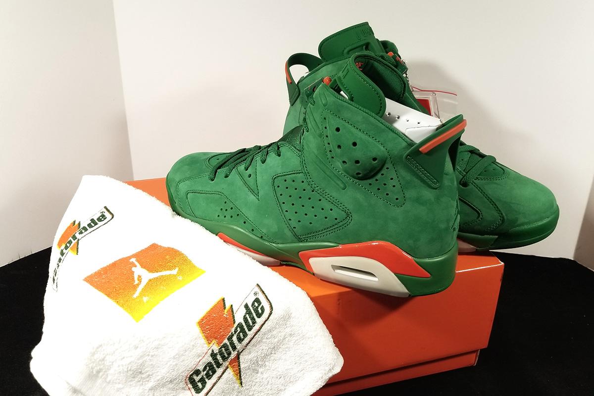 jordan gatorade shoes green