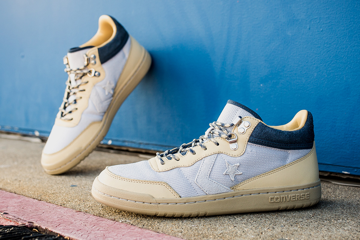 "CLOT x Converse Fastbreak Mid ""Beige"" Detailed Pictures"