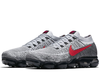 "Nike Air VaporMax Flyknit ""Grey, Red & Black"""