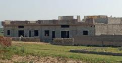 New Build Modern Design Semi Detached Residential Single Storey ith rooftop.