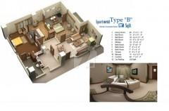 2000 sq ft 3 Bedrooms Apartment in Lifestyle Residency- G13/1 Islamabad, Pakistan