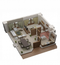 950 sq ft 1 Bedroom Apartment in  Lifestyle Residency - G13/1 Islamabad, Pakistan