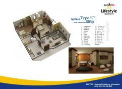 1600 sq.ft. 2 bed Apartment in Lifestyle Residency G-13/1, Islamabad, Pakistan