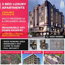 3 Bed Luxury Apartment Available For Sale
