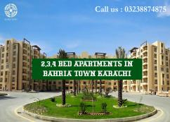 GOOD OPPORTUNITY 2 BED APARTMENTS AVAILALBLE IN REASONABLE PRICE IN BAHRIA TOWN KARACHI