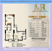 2 bed apartment for sale on installment in bahria town karachi