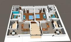 1 bed apartment for sale at 17 lac only.