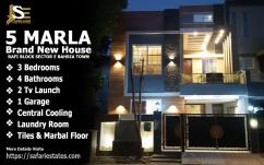 5 Marla Brand New House In Rafi Block Sector E Bahria