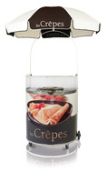 Semi-circular Crepe Cart 'Chocolate'