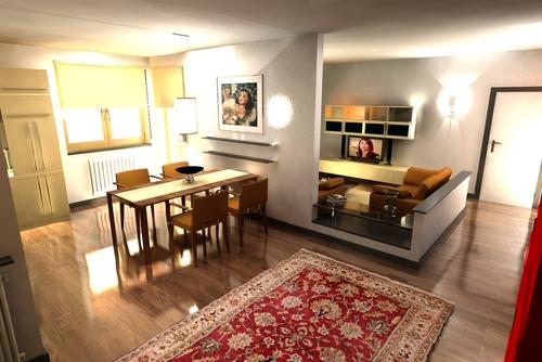 Roberto pittaluga render progetto ristrutturazione for Progetto ristrutturazione appartamento