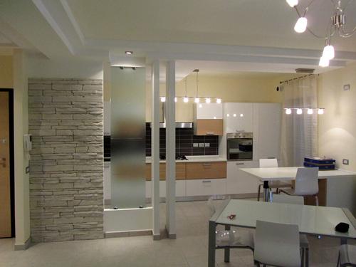 cartongesso e televisore parete. pareti soggiorno ...