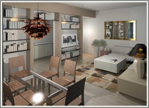 Raffaella guazzoni ristrutturazione appartamento a for Soggiorno pranzo