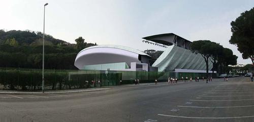 shesa srl stadio centrale del tennis roma divisare by europaconcorsi. Black Bedroom Furniture Sets. Home Design Ideas