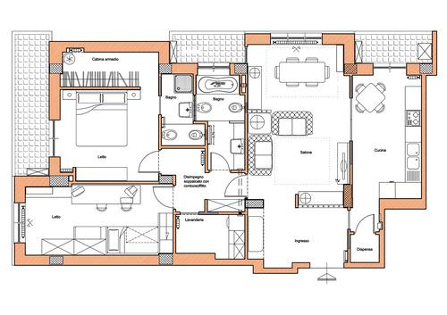 Paola segatori architetto ristrutturazione appartamento for Progetto ristrutturazione appartamento