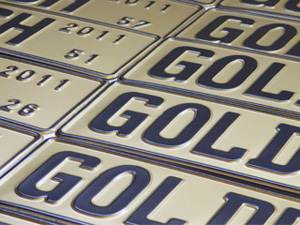Goldrush Award Plates