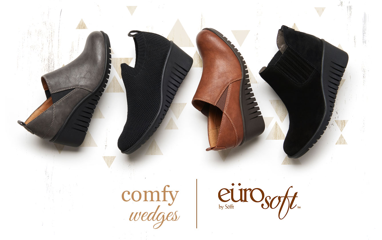 Comfy wedges. Eurosoft by Sofft. Shop All Styles