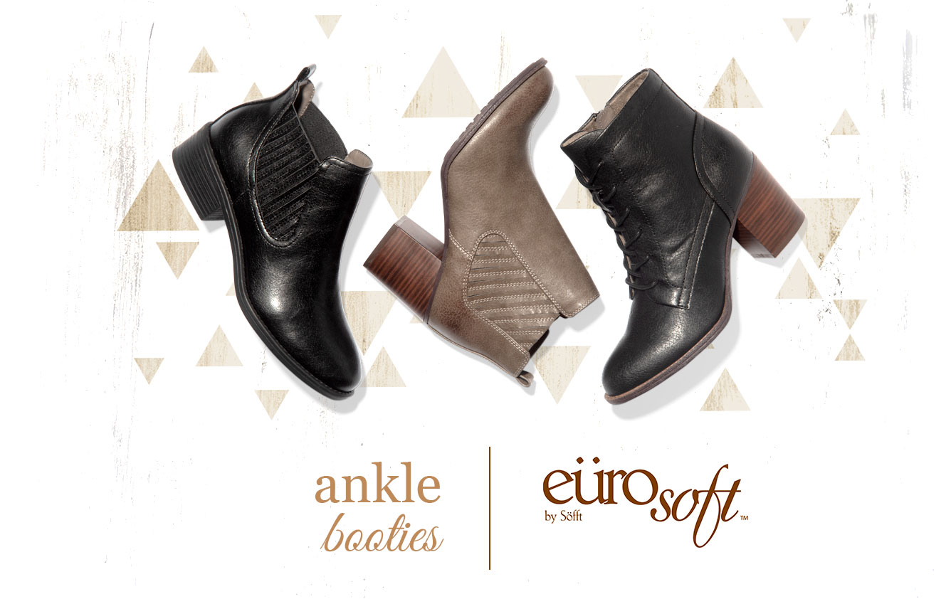 Ankle Booties. Eurosoft by Sofft. Shop All Styles
