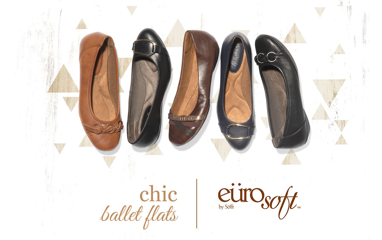 Chic Ballet Flats. Eurosoft by Sofft. Shop All Styles