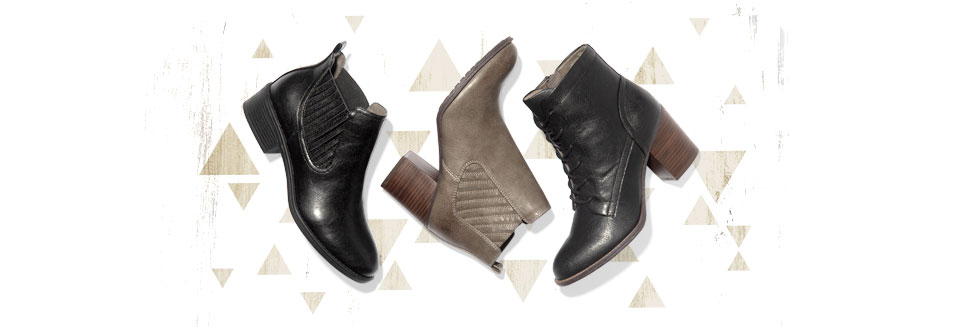 Featured fall styles: Colissa in Black, Salida in Grey, Shawna in Black