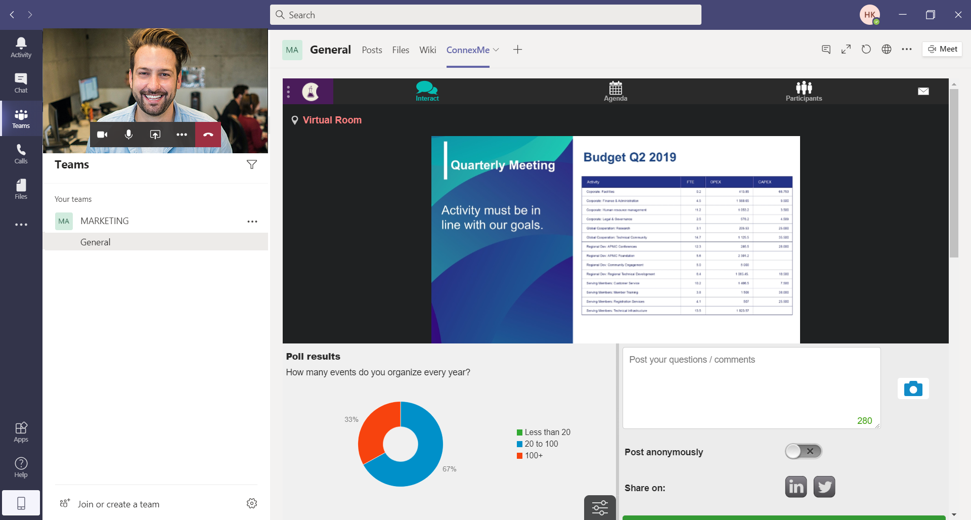 ConnexMe is available in Microsoft Teams